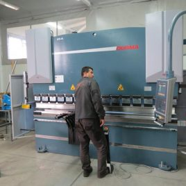 Abcant-press 135 tons with CNC controlled 4 axes