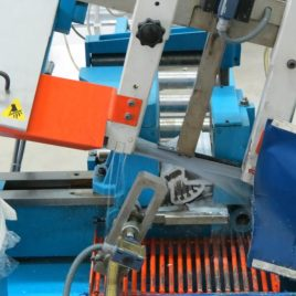 Automatic cutting machine of blanks for aluminum parts